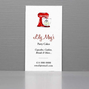 Business Card for Baker,Stand Mixer,Home Baking Business