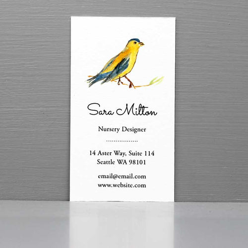 Watercolor Bird Business Card, Nanny Business Card