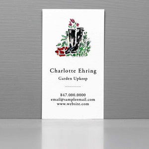 Business Card with Wellies, Gardening Business Card