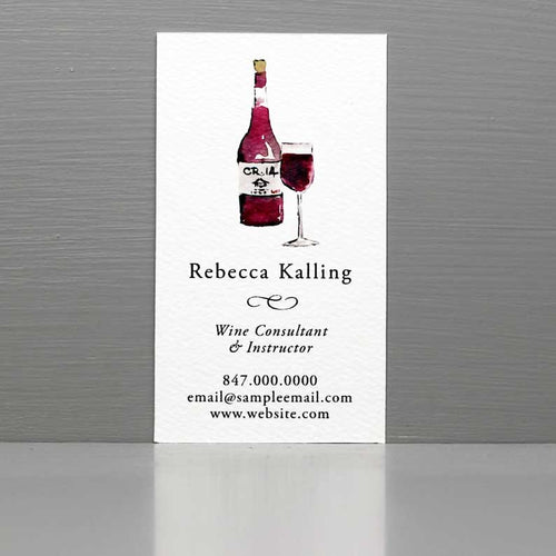 Business Card for Sommelier, Business Card for Wine Writer