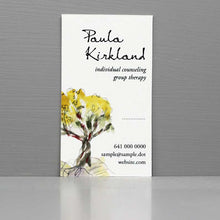 Business Card for Therapist, Business Card for Landscaper, Yellow Tree