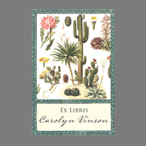 Botanical Cactus Bookplates