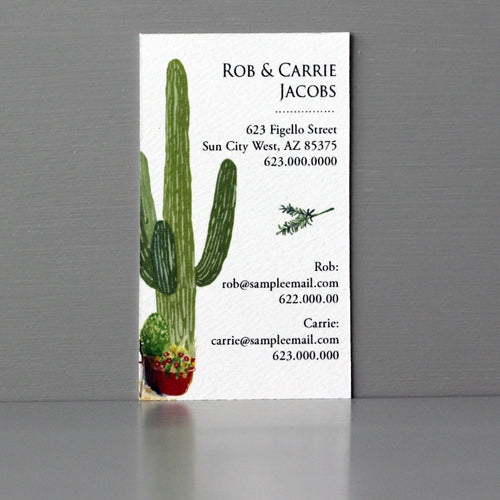 Cactus Business Card, Sets of 50