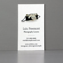 Business Card with Camera Illustration