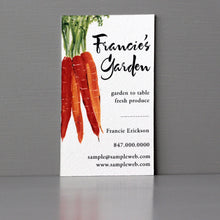 Business Card with Carrots