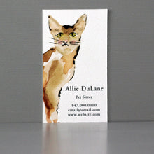 Cat Sitter Business Card,Cat Calling Card