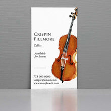 Cellist Business Card, Business Card for Cellist, Cello