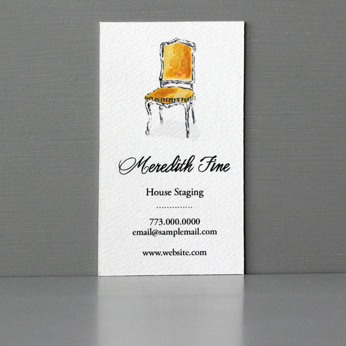 Antique Parlor Chair Business Card, Sets of 50