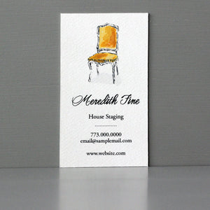 Business Card with Gold Chair