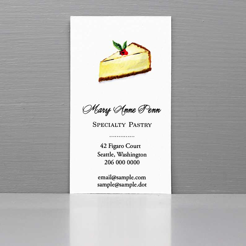 Cheesecake Business Card, Business Card for Baker