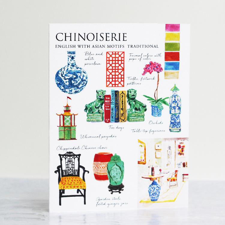 Chinoiserie Style Card