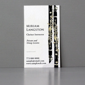 Clarinet Business Card, Sets of 50