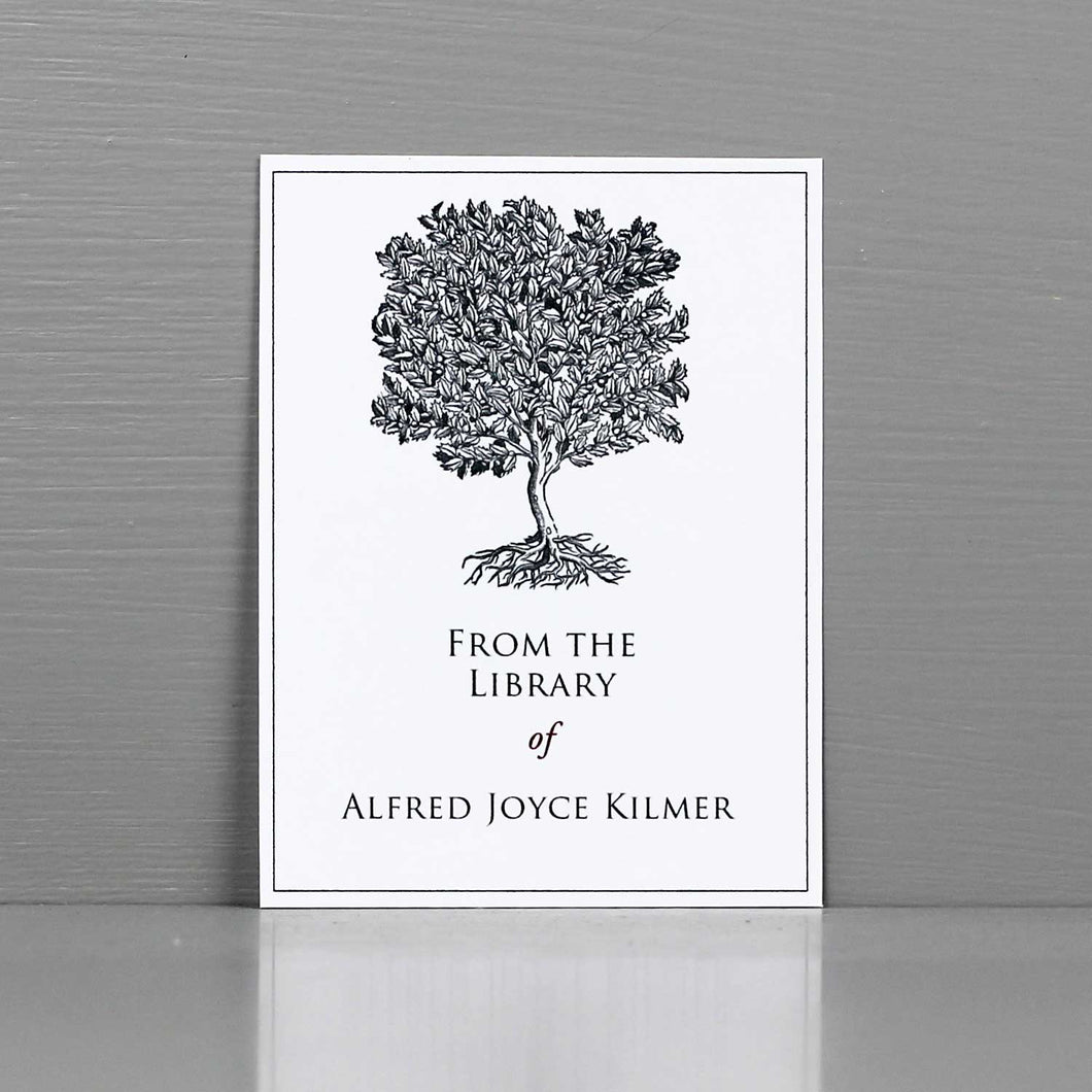 Classic Gray Tree Bookplate
