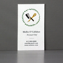 Cleaver and Spoon Business Card, Sets of 50