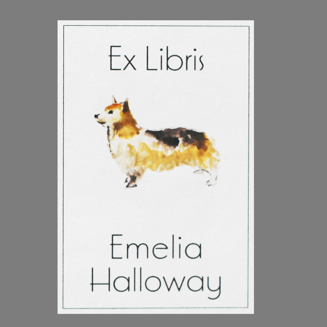 Corgi Bookplate