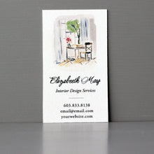 Interior Desk Scene Business Card, Sets of 50