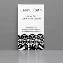 Black and White Doodle Business Card