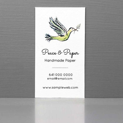 Dove Business Card, Business Card with Dove Motif