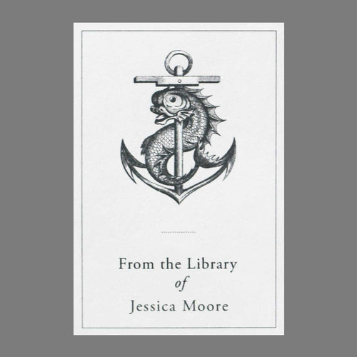 Classic Anchor Fish Bookplate