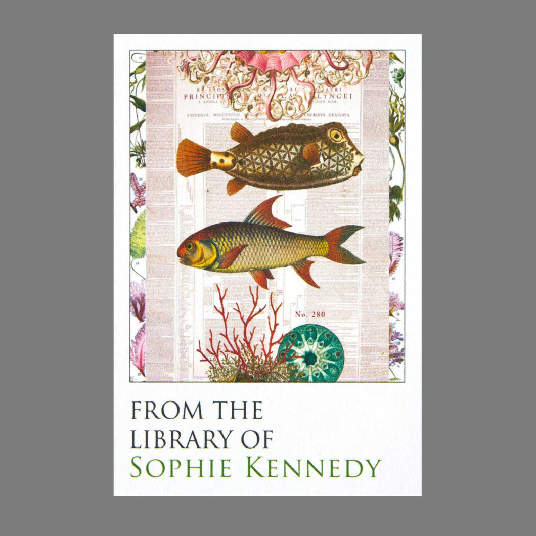 Victorian Collage Fish Bookplates