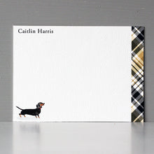 Plaid Dachshund Flat Note Set