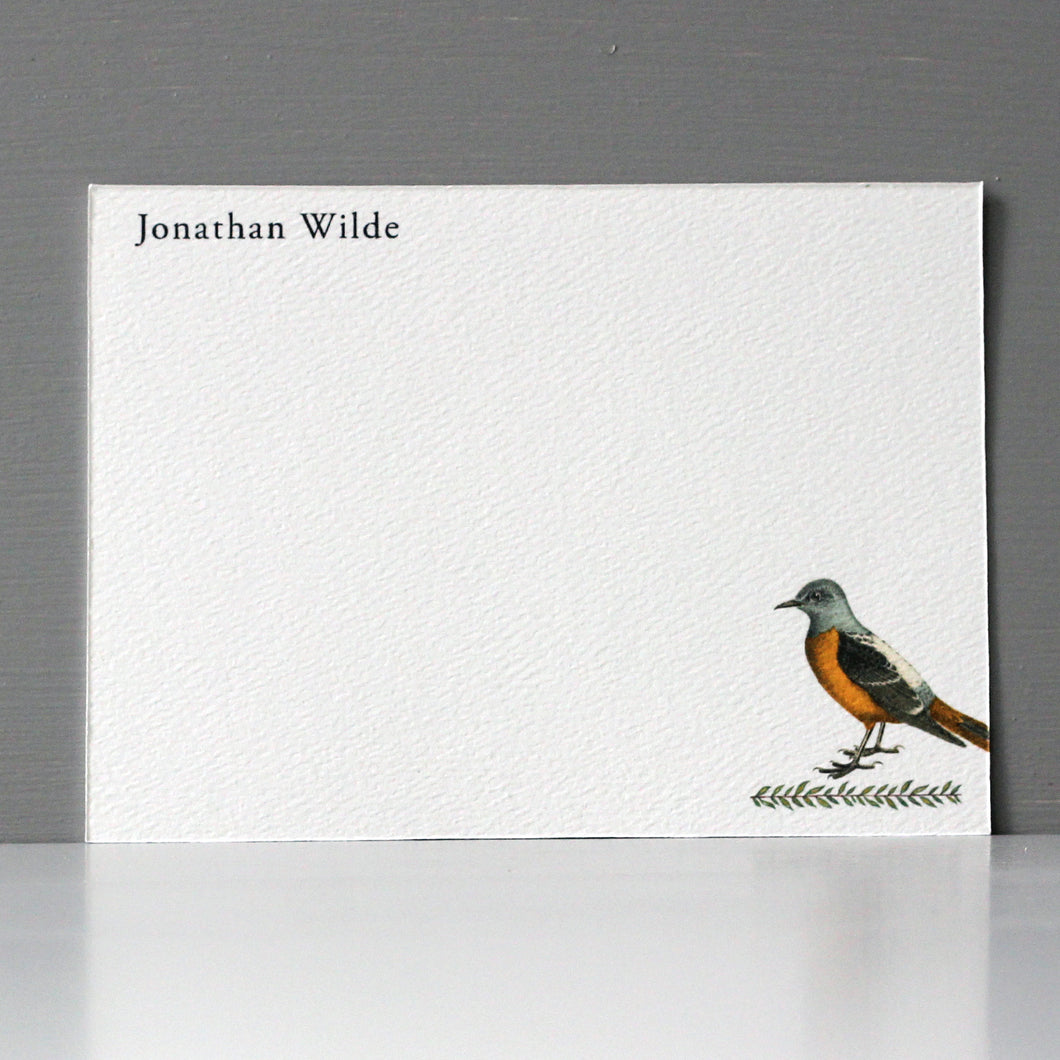 Personalized Flat Note, Bird, Set of 15