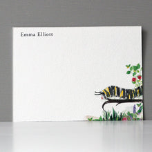 Personalized Flat Note, Caterpillar, Set of 15