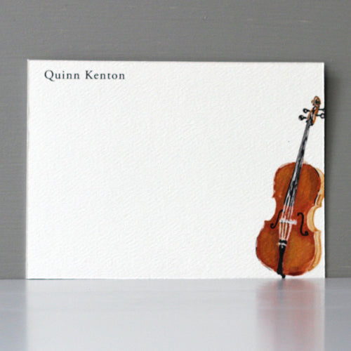 Personalized Flat Note, Cello, Set of 15