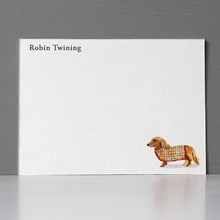 Personalized Flat Note, Dachshund, Set of 15