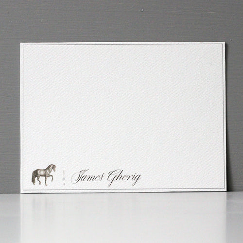 Personalized Flat Note, Elegant Horse, Set of 15