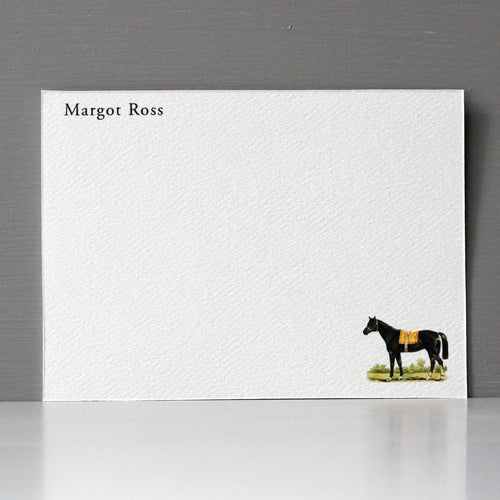 Personalized Flat Note, Horse, Set of 15