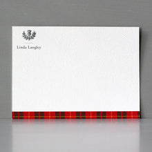 Scottish Thistle Red Tartan Flat Notes, Set of 15
