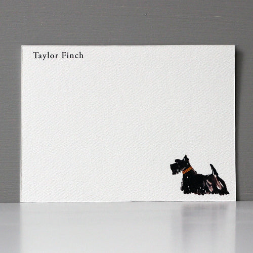 Personalized Flat Note, Scottie, Set of 15