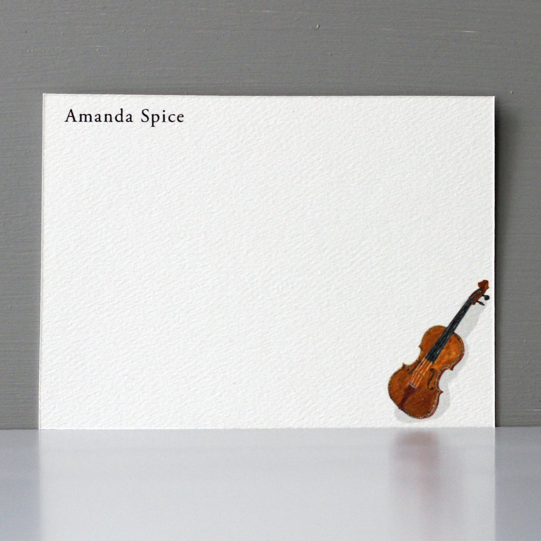 Personalized Flat Note, Violin, Set of 15