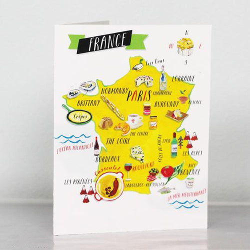 French Food Map Card