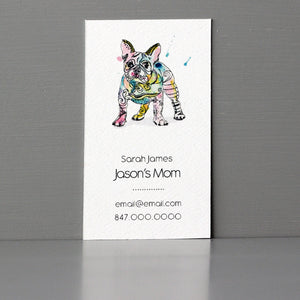 French Bull Dog Business Card