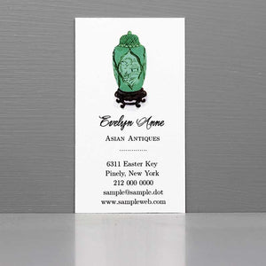 Chinoiserie Green Ginger Jar Business Card