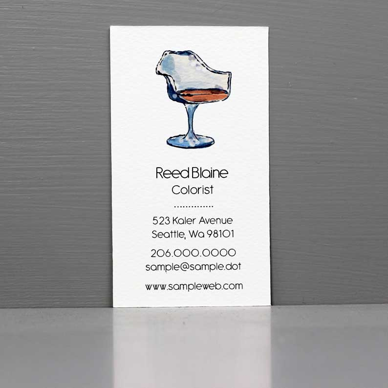 Hairstylist Business Card, Modern Chair Business Card