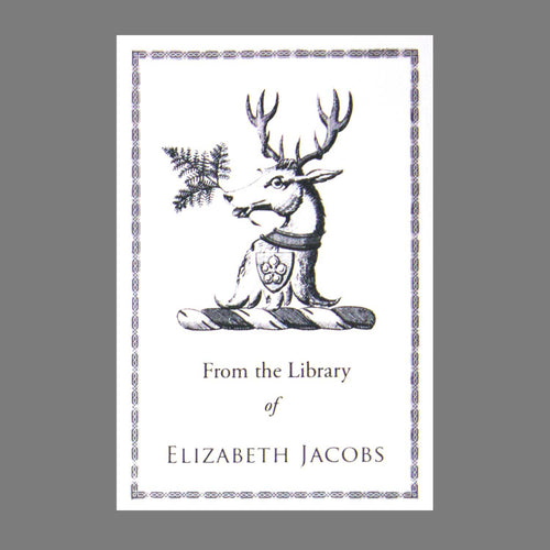 Regal Stag Elizabethan Bookplate