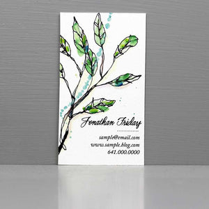Watercolor Herbal Business Card, Herbal Business
