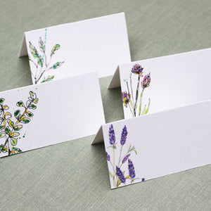 Garden Herb Place Cards, 4 Assorted Designs