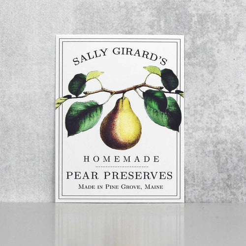 Personalized Pear Jam Labels, Pear Butter Labels
