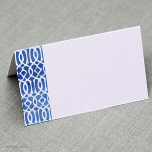 Blue Ikat Place Cards, Set of 12