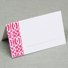 Pink and White Trellis Place Cards, Watercolor style
