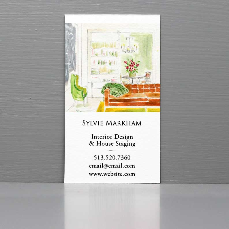 Interior Mid-Century Scene Business Card