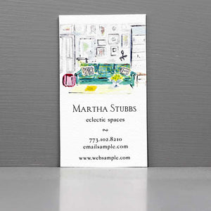Interior Designer Business Card, House Stylist Business Card