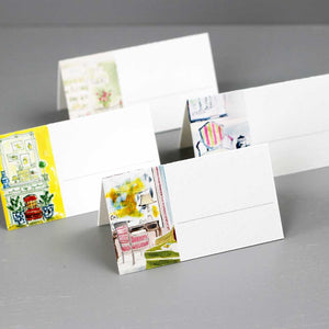 Whimsical Interiors Place Cards, 4 Assorted Designs