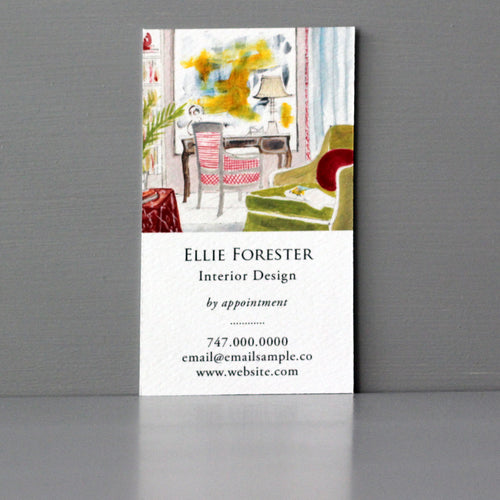 Interior Design Library Card