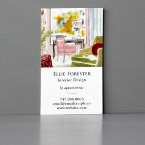 Interior Parlor Scene Business Card