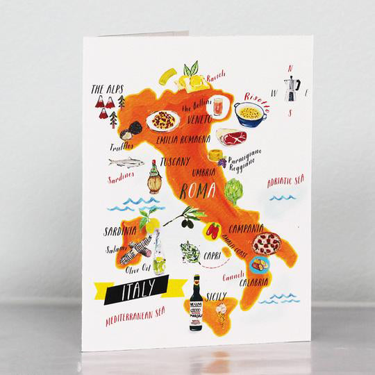 Italian Food Map Card
